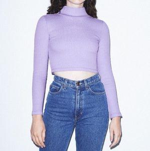 American apparel ribbed long sleeve turtleneck top